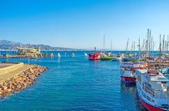 El puerto central de Eilat Foto de archivo