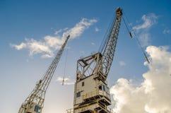 El puerto cranes Ciudad del Cabo Imagenes de archivo