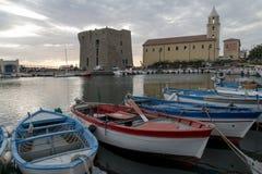 El puerto de Acciaroli Imagen de archivo libre de regalías