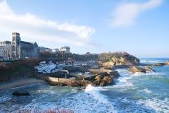 El puerto de Biarritz Imagen de archivo libre de regalías