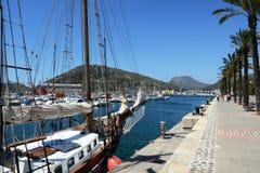 El puerto de Cartagena, España Foto de archivo libre de regalías