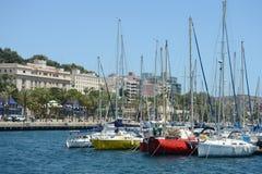 El puerto de Cartagena, España Fotos de archivo