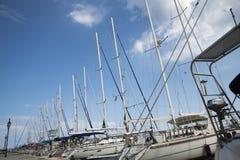 El puerto de ciudad de Lefkada Imagenes de archivo
