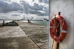 El puerto de Dublín fotografía de archivo libre de regalías