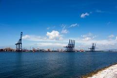 El puerto de envío en Tailandia Imagen de archivo