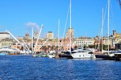 El puerto de Génova Imagen de archivo libre de regalías