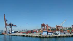 El puerto de Haydarpasa, Estambul, Turqu?a almacen de metraje de vídeo