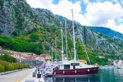 El puerto de Kotor Imagen de archivo