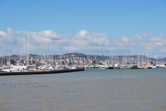 El puerto de la línea de costa y la playa de Pescara Imagen de archivo libre de regalías