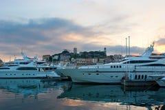 El puerto de la tarde Fotos de archivo