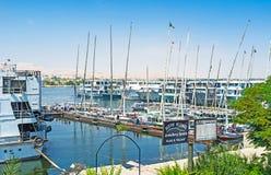 El puerto de Luxor Foto de archivo libre de regalías