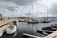 El puerto de Noruega Fotografía de archivo libre de regalías