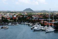 El puerto de Oranjestad fotos de archivo libres de regalías