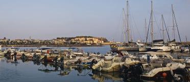El puerto de Rethymno imagen de archivo libre de regalías