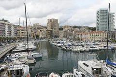 El puerto de Savona, Italia Imagenes de archivo