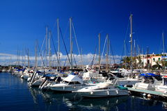 El puerto deportivo Imagen de archivo