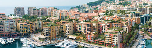 El puerto deportivo en Mónaco Fotografía de archivo libre de regalías