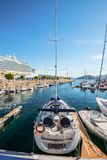 El puerto deportivo en Vigo, España fotografía de archivo