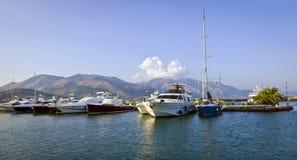 El puerto deportivo - Gaeta, Italia Foto de archivo libre de regalías