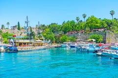 El puerto deportivo viejo del centro turístico de Antalya Fotografía de archivo libre de regalías