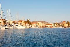 El puerto en Aegina, Grecia Foto de archivo libre de regalías
