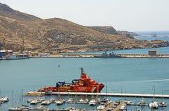 El puerto en Cartagena foto de archivo