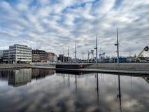 El puerto en Kiel, Alemania imágenes de archivo libres de regalías