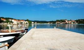 El puerto en Lumbarda Imagen de archivo libre de regalías