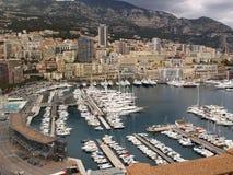 El puerto en Monte Carlo Imagen de archivo libre de regalías