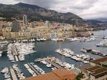 El puerto en Monte Carlo Foto de archivo