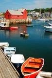 El puerto en Rockport Imagen de archivo libre de regalías