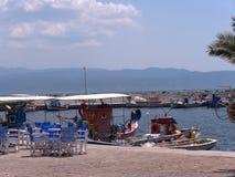 El puerto en Skala Kalloni Lesvos Grecia Fotos de archivo libres de regalías