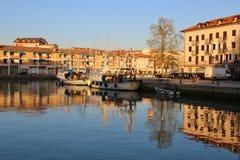 El puerto viejo de Grado, Italia Foto de archivo