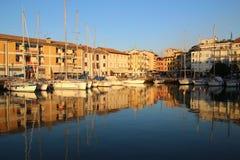 El puerto viejo de Grado, Italia Fotos de archivo