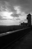 El puesto de observación del sur de la playa de Aldeburgh Foto de archivo