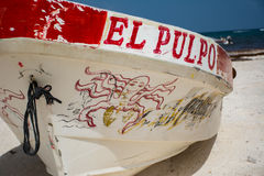 El pulpo fishing boat Stock Images