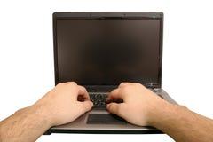 El pulsar de la computadora portátil Fotografía de archivo libre de regalías