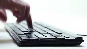 El pulsar en el teclado almacen de video