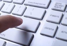 El pulsar en el teclado Fotografía de archivo libre de regalías