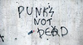 El punky no está muerto Fotos de archivo libres de regalías