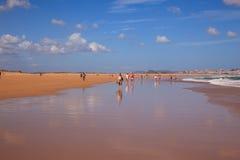 El Puntal Beach In Somo, Santander. Spain Royalty Free Stock Photography