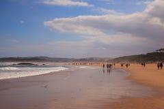 El Puntal Beach In Somo, Santander. Spain Stock Photo