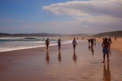 El Puntal Beach In Somo, Santander. Spain Royalty Free Stock Photo