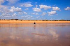 El Puntal Beach In Somo, Santander. Spain Stock Image
