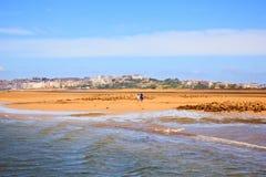 El Puntal Beach In Somo, Santander. Spain Royalty Free Stock Photos