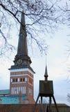 El punto de la cúpula en la ciudad de Vasteras en Suecia Foto de archivo