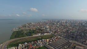El punto de Ver o Río de la visión aérea en Belem hace la ciudad de Para En noviembre de 2016 - el Brasil almacen de video