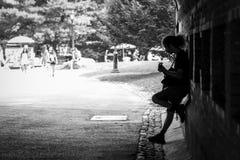 El punto del músico Fotografía de archivo libre de regalías