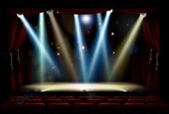El punto enciende la etapa del teatro Fotografía de archivo