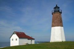 El punto Judith Light en la costa de Rhode Island fotos de archivo